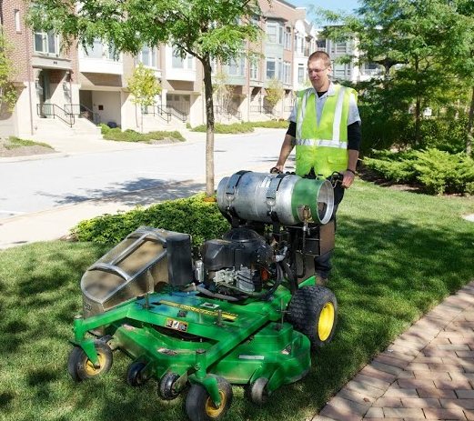 Schill's propane-powered mowers reduce air pollution
