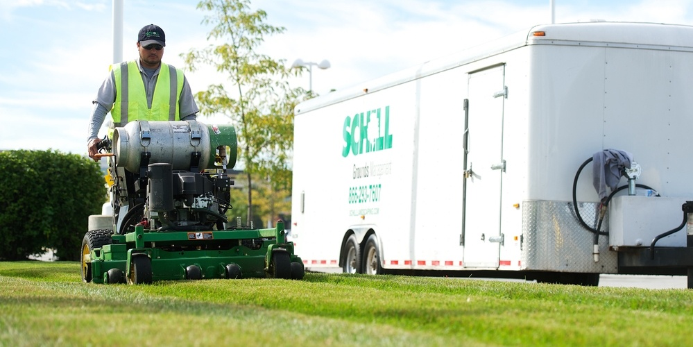 Schill Grounds Management has the largest fleet of propane-powered mowers of any commercial grounds management company in Northern Ohio.