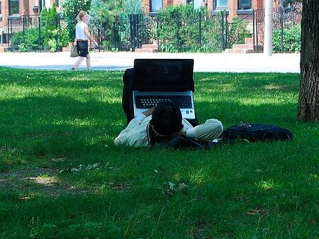 wifi access is expected for today's outdoor workspaces