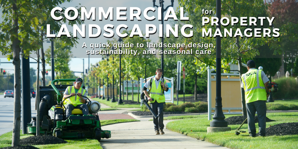 commercial landscaping for property managers, a quick guide to landscape design, sustainability, and seasonal care