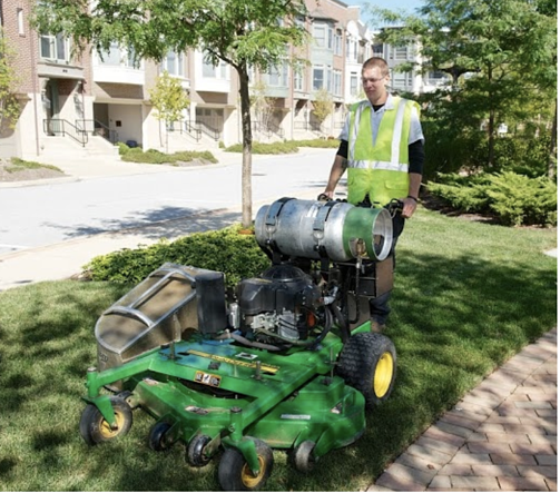Alternative energy mowers follow EPA regulations for sustainable landscaping