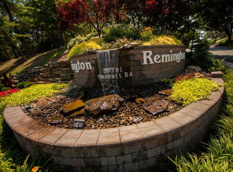 a water feature is one commercial landscaping idea that will draw attention to properties