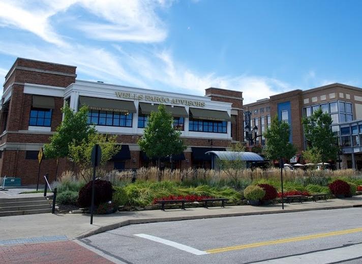 one commercial landscape design idea for entrances is incorporating ornamental grasses